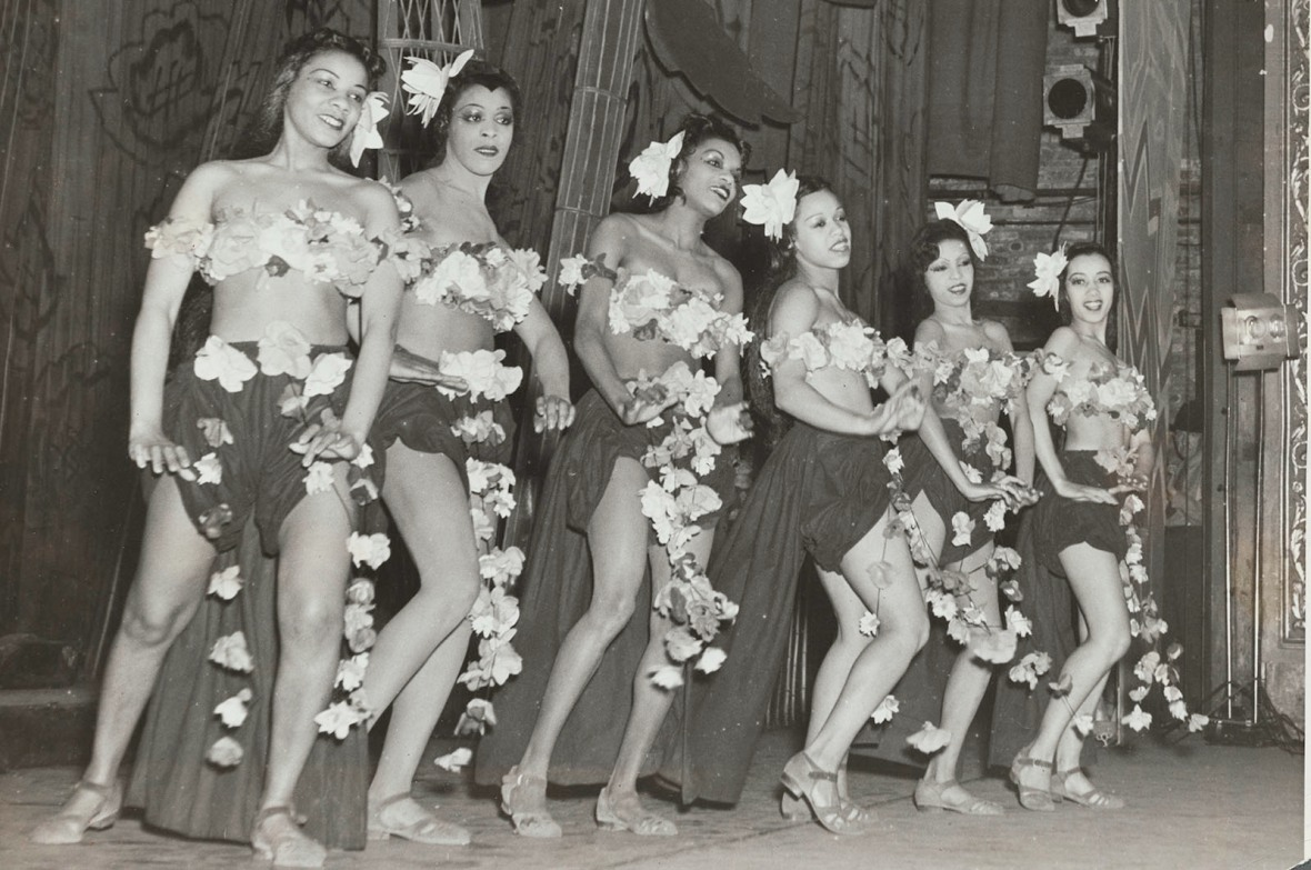 """Schomburg Center for Research in Black Culture, Photographs and Prints Division, The New York Public Library. """"The Jitterbug Chorus Line"""" The New York Public Library Digital Collections. 1938. http://digitalcollections.nypl.org/items/6b6df820-0bd1-0134-c00f-00505686a51c"""