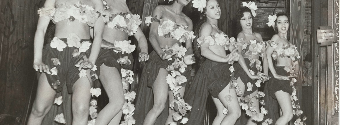 "Schomburg Center for Research in Black Culture, Photographs and Prints Division, The New York Public Library. ""The Jitterbug Chorus Line"" The New York Public Library Digital Collections. 1938. http://digitalcollections.nypl.org/items/6b6df820-0bd1-0134-c00f-00505686a51c"